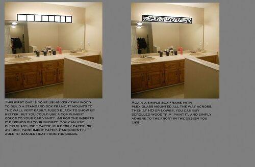 Enchanting 10 Bathroom Vanity Light Cover Diy Inspiration Of Bathroom Lighting Quick Fix To
