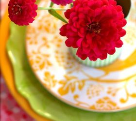 Scrapbook Paper Craft Table Setting, Crafts, Home Decor, Zinnias And Paper Craft  Table