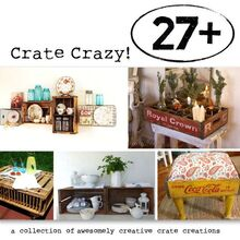 a crate aholic crates up 27 crazy crates right off hometalk and more, repurposing upcycling, Drop dead crate gorgeousness right from HomeTalk