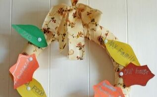 kids craft thankful wreath, crafts, seasonal holiday decor, wreaths
