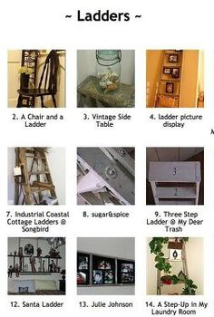 24 wow ideas from just a ladder, repurposing upcycling, Visit a themed link party with 75 more ideas submitted by DIY bloggers Add yours anytime this linkup is always open