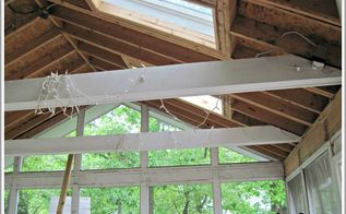 installing a beadboard ceiling on our back porch, curb appeal, diy, outdoor living, wall decor, woodworking projects