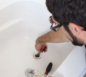 How To Unclog A Bathtub Drain The Easy Way, Bathroom Ideas, Cleaning Tips,