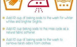 baking soda tips, cleaning tips, Free printable for your laundry room to remember all the ways you can use baking soda in your laundry