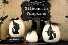 silhouette pumpkins, crafts, halloween decorations, seasonal holiday decor, Silhouette Pumpkins