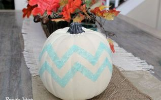 tips tricks how to make your own chevron pumpkin autumncolors, crafts, seasonal holiday decor, Viola A Fun Funky Chevron Pumpkin in 5 minutes flat