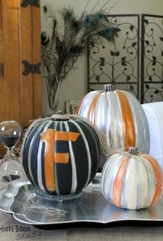 make your own marvelous metallic pumpkins, crafts, halloween decorations, seasonal holiday decor, See how this fun and easy DIY project can bump up your Halloween decor and