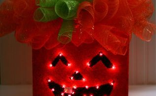 curly topped light up jack o lantern, crafts, halloween decorations, seasonal holiday decor, wreaths, All Lit Up and Ready for Halloween