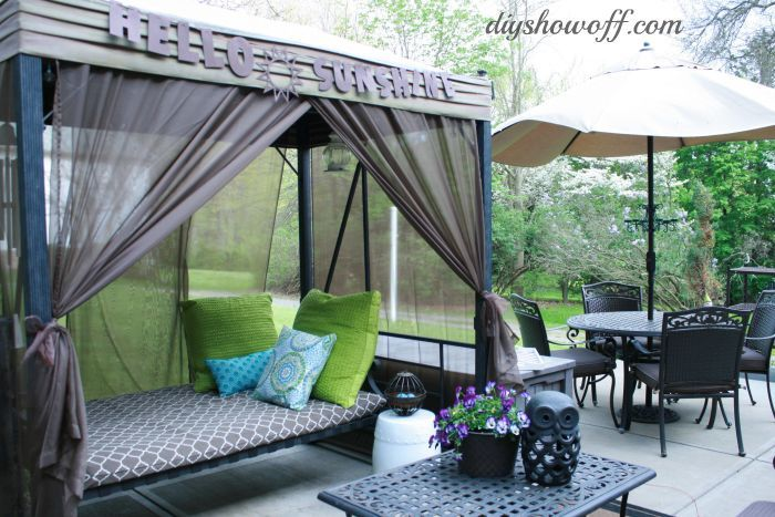 How To Add Curtains To An Outdoor Covered Patio Swing