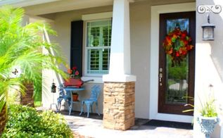 simple fall front porch porchpride, crafts, seasonal holiday decor, wreaths, Creating a Welcoming Entry on a small Front Porch