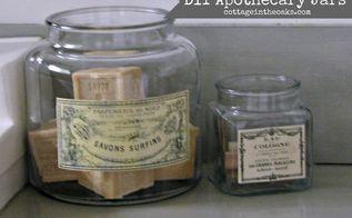diy vintage french apothecary jars, crafts, DIY Vintage French Apothecary Jars