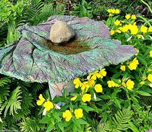 diy garden birdbath feeders, crafts, gardening