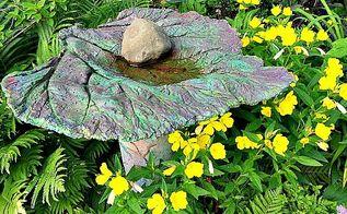 diy garden birdbath feeders, crafts, gardening