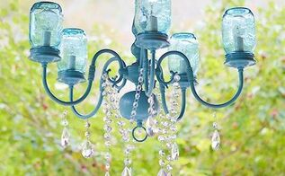 diy mason jar chandelier, diy, lighting, mason jars, repurposing upcycling, DIY Mason Jar Chandelier
