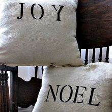 super easy dropcloth pillows, crafts, seasonal holiday decor