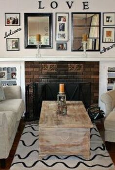 our living room makeover and gallery wall, dining room ideas, home decor, wall decor, Our living room makeover with our gallery wall above the fireplace