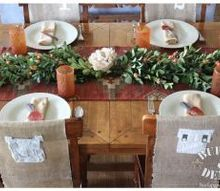rustic thanksgiving table and diy euonymus centerpiece, seasonal holiday d cor, thanksgiving decorations