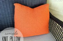 diy crate and barrel inspired knit pillow, crafts, home decor