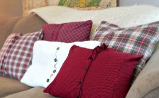 cozy plaid throw pillows livingroom, home decor, repurposing upcycling, Ready for the cooler weather