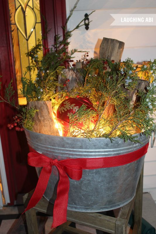 12 days of easy christmas decorating more christmas porch decorations, curb  appeal, outdoor living