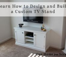building a custom media cabinet from scratch, diy, kitchen cabinets, painted furniture, woodworking projects, Here s what the finished cabinet looks like