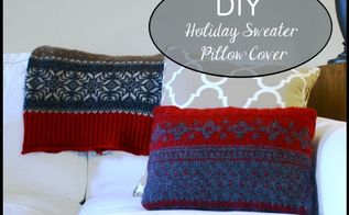 diy holiday sweater pillow cover, crafts, seasonal holiday decor, Visit for full instructions on how to sew your own
