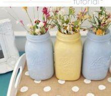 burlap polka dot tray, crafts, painting
