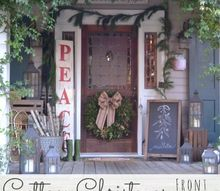 cottage christmas front porch 2013, porches, seasonal holiday decor, Cottage Christmas Front Porch HolidayCheer