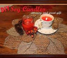 diy soy candles, crafts, seasonal holiday decor