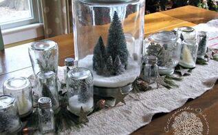 diy snow globe centerpiece, christmas decorations, crafts, mason jars, seasonal holiday decor