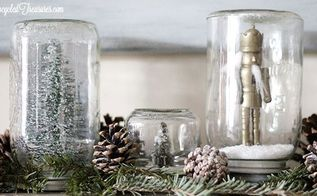 it s not too late for mason jar snow globes, crafts, mason jars, repurposing upcycling, seasonal holiday decor, Mason Jar Snow Globes