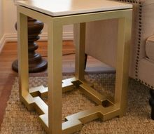 diy side tables with greek key base, diy, painted furniture, DIY side table with Greek key base