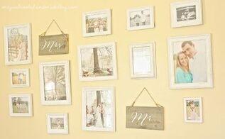 displaying wedding photos gallery wall, home decor, wall decor