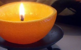 diy orange candles, crafts