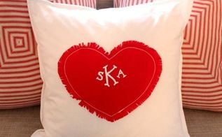 pottery barn inspired heart pillow, crafts, home decor, living room ideas, seasonal holiday decor, Now you saved 29 50 and have a darling pillow