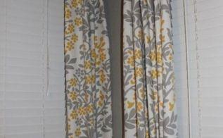 diy no sew curtains, crafts, home decor, reupholster, window treatments