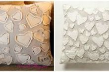 anthropologie inspired heart pillow, crafts, seasonal holiday decor, Mine 5 Theirs 192