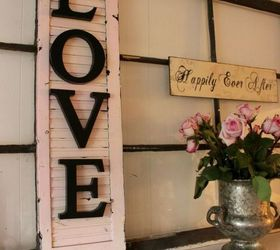 turn an old shutter into shabby chic wall decor, crafts, repurposing  upcycling, seasonal