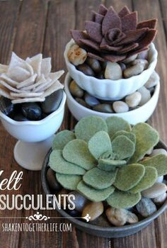 how to make felt succulents easy no sew, crafts, A trio of tutorials to make three different varieties of felt succulents