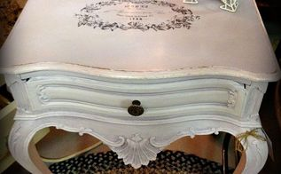 diy tutorial transforming a french provincial side table, painted furniture, The finished product