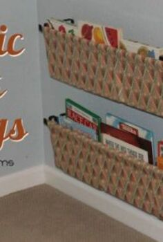 diy fabric book sling so easy, crafts, storage ideas