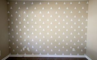 diy triangle accent wall for less than 3, home decor, paint colors, wall decor