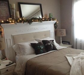 DIY Fireplace Mantel Headboard | Hometalk