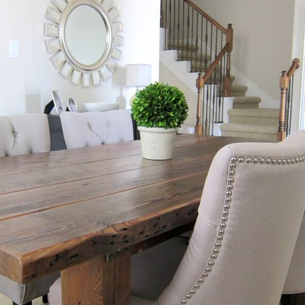 our dining room table we made from reclaimed wood, dining room ideas, diy, - Our Dining Room Table We Made From Reclaimed Wood Hometalk