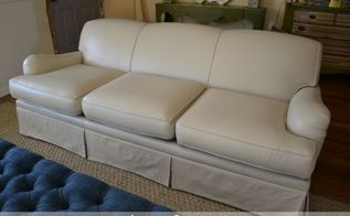 painted upholstered sofa, outdoor furniture, painted furniture, Sofa painted with latex paint with fabric medium added