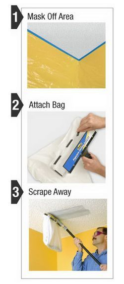 Finally easily remove a popcorn ceiling with this new ceiling scraper hometalk - Diy tips home window cleaning ...