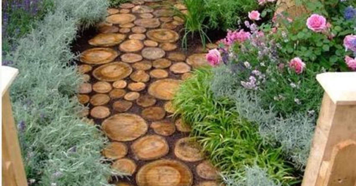 Flower Garden Path cute diy garden path idea! | hometalk