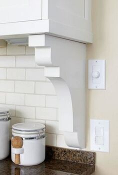 genius simple ways to hide common eyesores, cleaning tips, diy, home decor, Transition backsplash to wall with a simple and cheap shelf bracket opaldesigngroup com