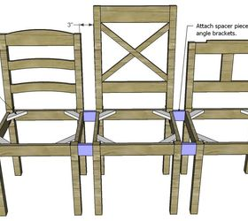 Build A Dining Chair Bench, Diy, Painted Furniture, Woodworking Projects