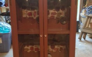 old dresser and now it s a wine cabinet with glass holder, painted furniture, repurposing upcycling